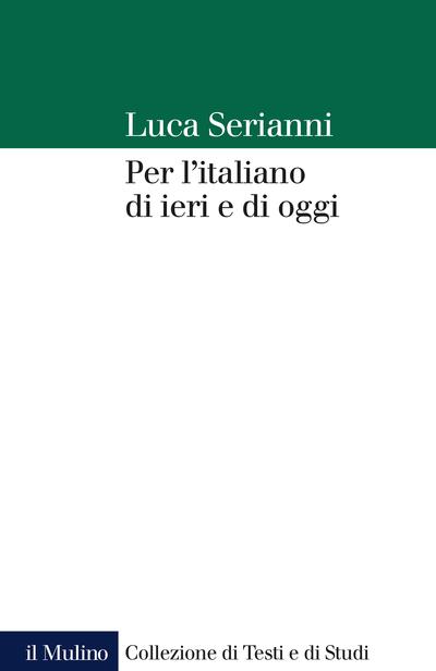Cover Per l'italiano di ieri e di oggi